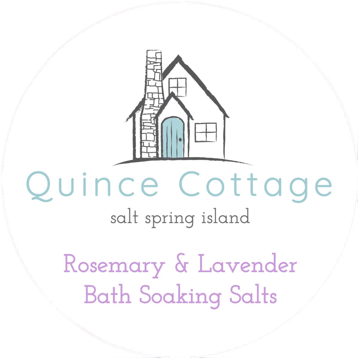 Rosemary & Lavender Bath Soaking Salts Label
